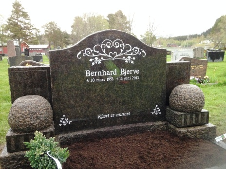 Ny skrift på gravstein